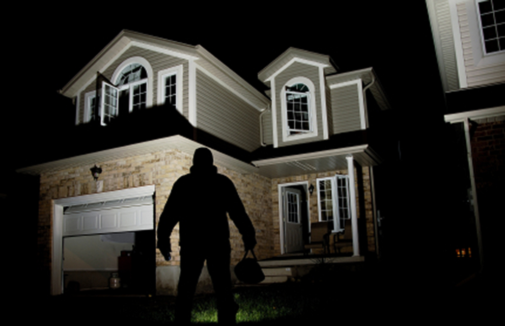 Home invasion - Protect Your Home from burglary - Man outside of house