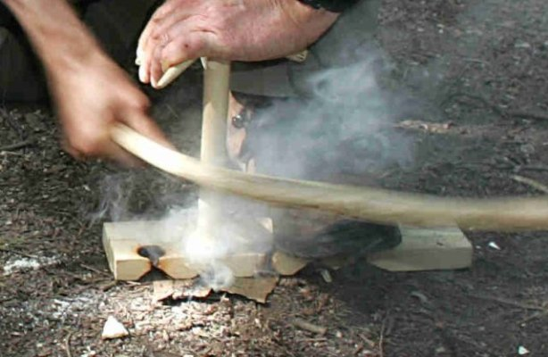 how to make a bow drill - smoking ember